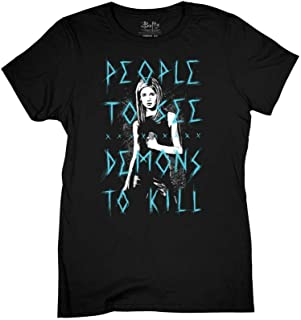 Ripple Junction Buffy The Vampire Slayer Womens People to See Light Weight 100% Cotton Crew T-Shirt