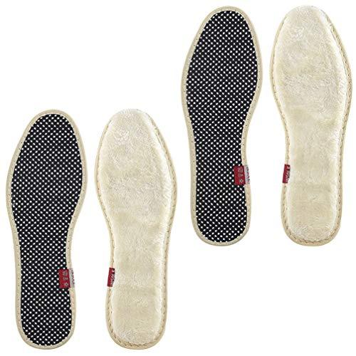 EXCEART 2 Paar Kuschelige Warme Wollschuh-Einlegesohlen Flauschige Schuhe Setzen Unisex-Thermo- Und Isolier-Einlegesohlen für Männer Und Frauen (Größe 42)