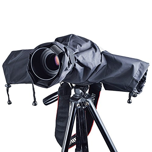 Funda lluvia cámara, ZWOOS Protector Antilluvia Impermeable de Cámara para Canon, Nikon y Sony etc