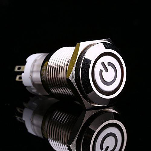 Interruptor de enclavamiento, botón pulsador de metal, fácil de instalar para el conductor del automóvil Trabajador de mantenimiento de automóviles deportivos