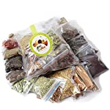 Let's Go Nuts Set of 15 Aromatic Whole Garam Masala Spices Combo 725g - Ajwain, Black Pepper, Green Cardamom, Pipali Long Pepper, Cinnamon, Cloves, Jeera, Dry Ginger, Sonuff, Meethi, Mustard & More.