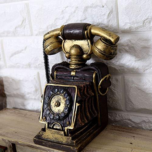 Micaza Vintage Roterende Telefoon Decoratie, Wijzerplaat Telefoon Sculptuur Piggy Bank Retro Landline Telefoon Decoratie Voor Festival Stage Kinderen Gift