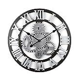 Tosbess 58CM Relojes de Pared Silencioso Grandes Originales de Estilo Vintage para el hogar/la...