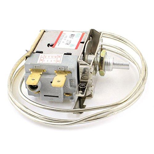 SODIAL(R) AC 250V 6A Termostato de refrigerador congelador de terminales de 2 pines
