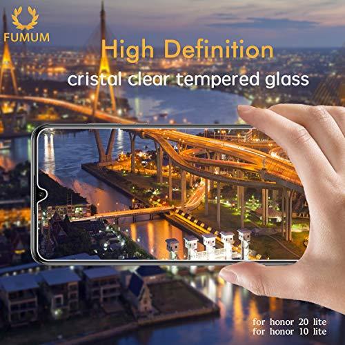 Schutzfolie für Honor 10 Lite Folie,Premium HD Anti-Kratzer Glasfolie 9H Displayschutzfolie für Honor 10 Lite Panzerglas[Bubble-frei][Anti Fingerabdruck][Anti-Öl] - 5
