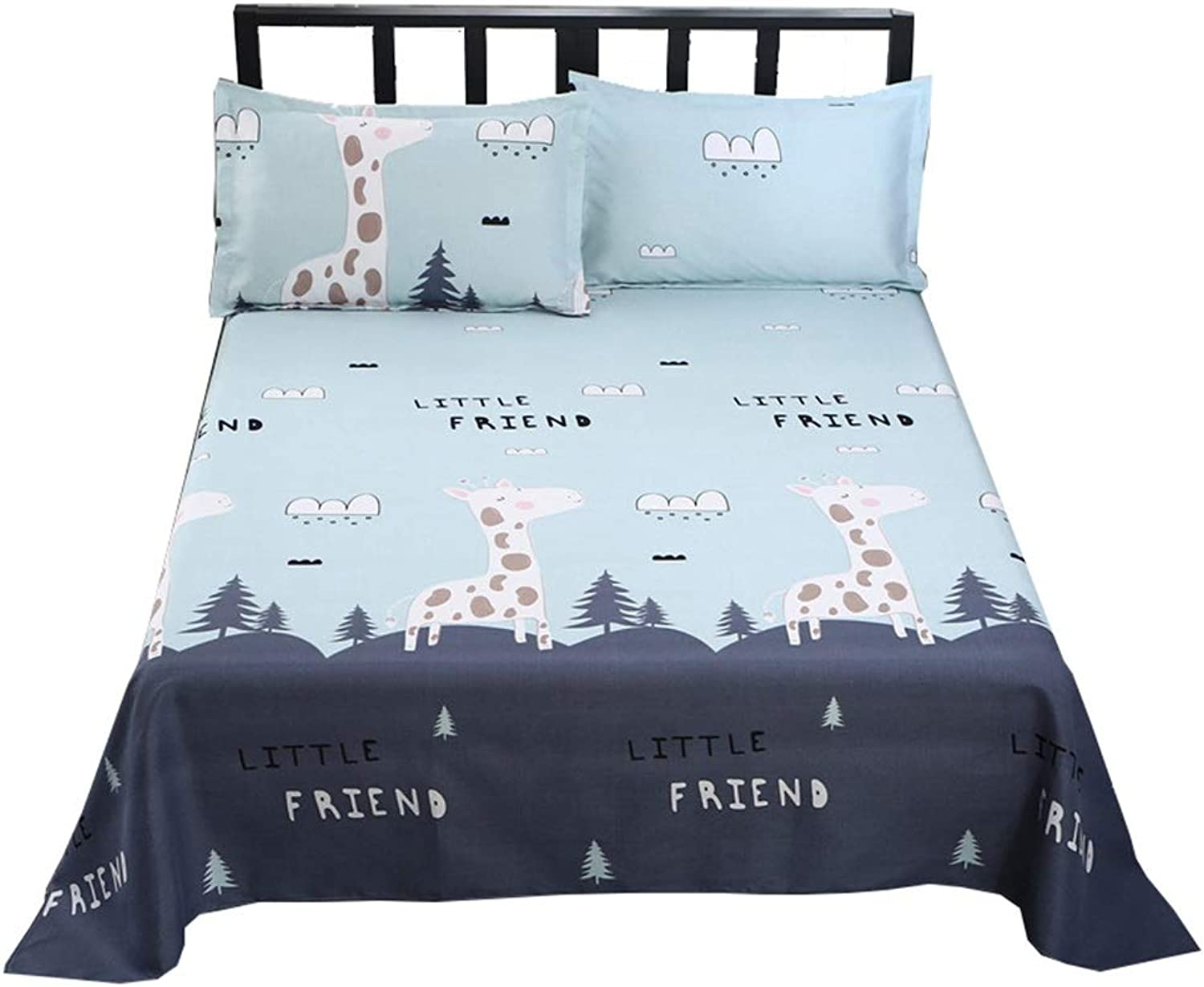 Sheets Single Piece Sanding Thick Single 1.8 1.5 1.2m Female Students Single Dormitory Double 2.5 2.3m Bed Cover (color   A, Size   150  230cm)