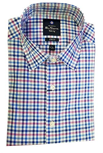 Ben Sherman Men's Long Sleeve Dress Shirt,Variety (15-15.5x32/33, Red/Blue Plaid)