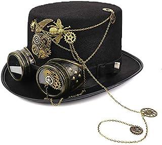 帽子 キャップ 中折れ帽 シルクハット ハット スチームパンク マジックハット スチパン ゴーグル 歯車 ハロウィン 紳士 レトロ