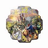 MAGIC WALL CLOCK FOR DISNEY FANS Beauty and The Beast 11.8'' Handmade Made of Acrylic Glass - Get Unique décor for Home or Office – Best Gift Ideas for Kids, Friends, Parents and Your Soul Mates