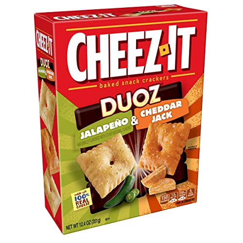 Cheez-It DUOZ Baked Snack Cheese Crackers, Jalapeno & Cheddar Jack, 12.4 oz Box