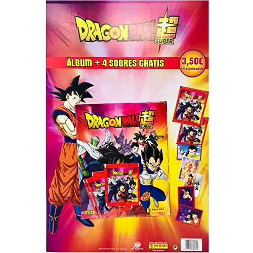 DRAGON BALL SUPER 2 sticker Collection Mega Starter Pack [Album + 5 Bustine omaggio + BOX DA 50 Bustine]