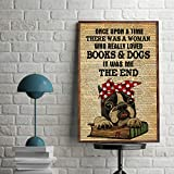 A Woman Who Really Loved Books And Dogs Pitbull Poster