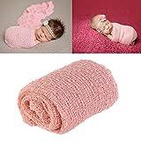 Tinksky Largo rizado abrigo, DIY recién nacido bebé fotografía bebé abrigo apoyos de la foto (nieve del color del diente)