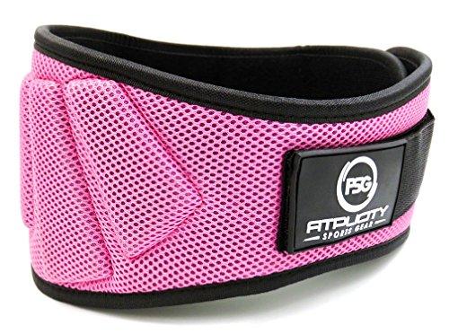 Fitplicity Gewichthebergürtel (Pink, groß)