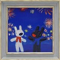 《アートフレーム》リサとガスパール アートフレーム Sサイズ 花火/絵画 壁掛け のあゆわら