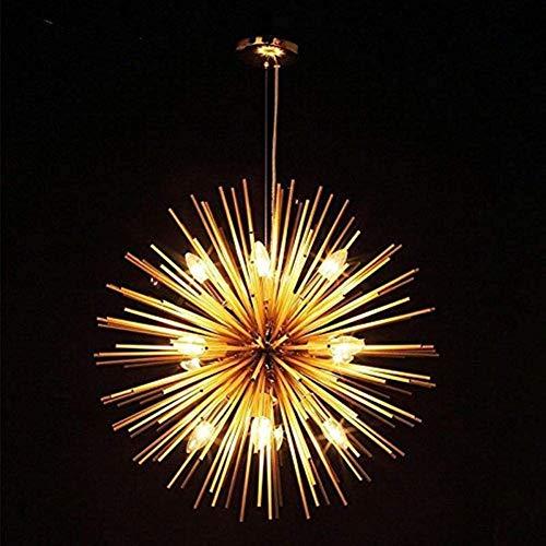 Kroonluchter messing koper goud kleur roestvrij staal plafondlamp hanglamp lamp E14 licht (55cm (21.65in)