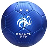 FFF - Mini Ballon de Foot 'Équipe de France' Officiel - Bleu