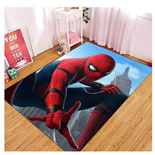 ZZXC Teppich Rechteck Home Cartoon Cartoon Spiderman Schlafzimmer Wohnzimmer Korridor Eingang Matte Esszimmer Kinderzimmer Moderner Einfacher Wilder Teppich