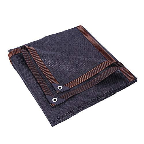 JLXJ Telas para toldos Sunblock Shade Cloth Sail, Rectángulo Negro 90% UV Block Malla de Malla con Ojales, para Plantas de Pérgola Patio Trasero Bar Carport, Borde Encintado (Size : 4m × 8m)