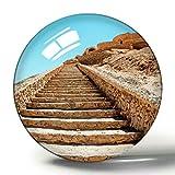 Hqiyaols Souvenir Irán Viejo Desierto 3D Imán de Nevera Colección de Recuerdos Viaje Regalo Círculo Cristal Imanes de Nevera