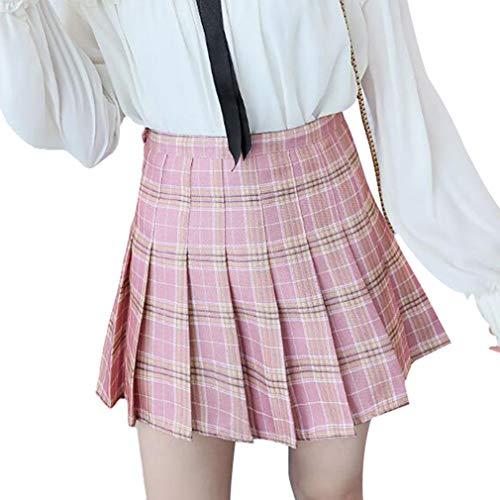 JiXuan Girl Short Vestidos Escuela Plisados para Niñas Adolescentes Tenis Scooters Faldas Mujeres Falda Clásica