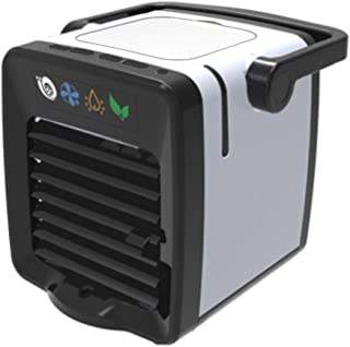 مروحة مكيف هواء، USB شحن شخصي ومبرد هواء سطح المكتب ومبرد هواء صغير مع مقبض محمول وإضاءة ليلية للمنزل والمكتب في الهواء الطلق
