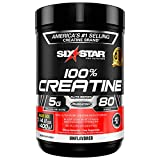 Creatine Monohydrate Powder | Six Star Elite | Post Workout Recovery Drink | 100% Micronized Creatine Powder | Muscle Recovery + Muscle Builder for Men & Women | Mass Gainer | Unflavored (80 Servings)