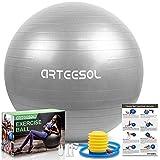 arteesol Pelota de Ejercicio, 45cm/55cm/65cm/75cm Pelota de Yoga Fitness Estabilizador Resistente...