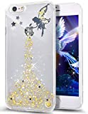 iPhone SE Case,iPhone 5S Case,iPhone 5 Case,ikasus Crystal Clear Bling Glitter Sparkle Angel Girl Star Ultra Slim Silicone Soft TPU Bumper Rubber Protective Case for iPhone SE & iPhone 5S 5,Yellow