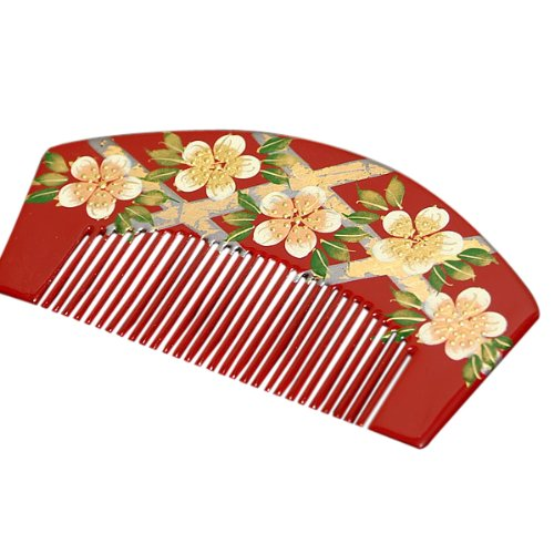 京都きもの町『櫛かんざしくすんだ赤花しおり』
