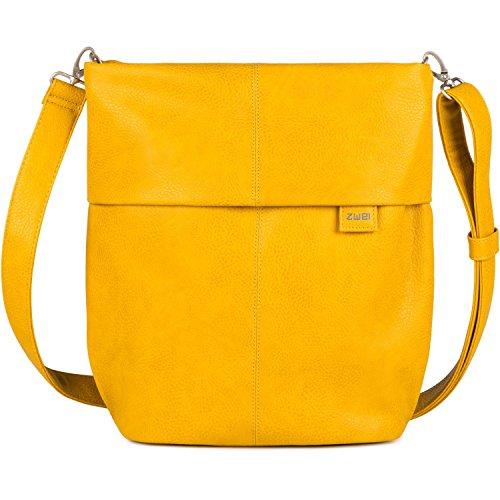 zwei Mademoiselle M12 Umhängetasche 31 cm yellow
