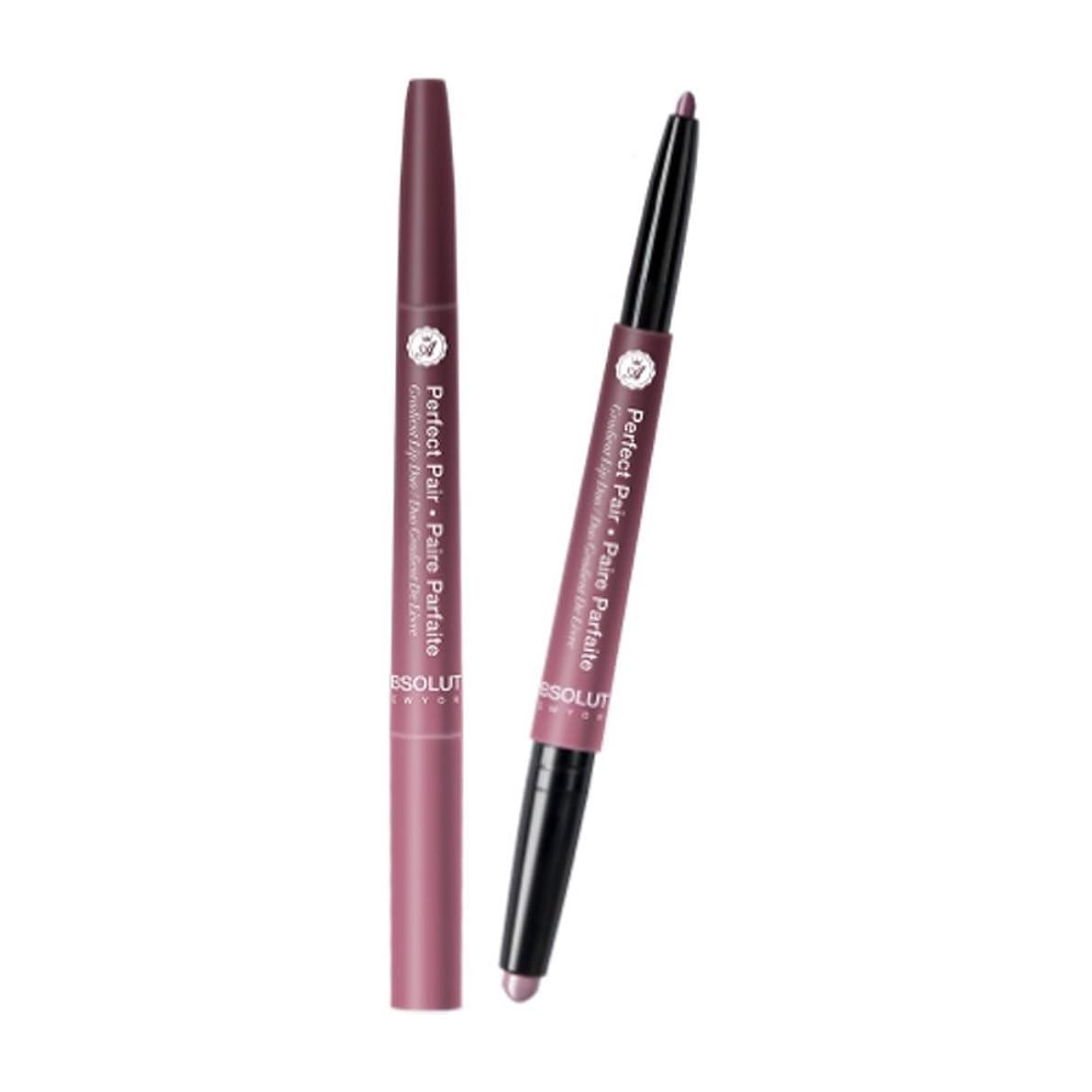 リブ重さ深さABSOLUTE Perfect Pair Lip Duo - Rose Wood (並行輸入品)