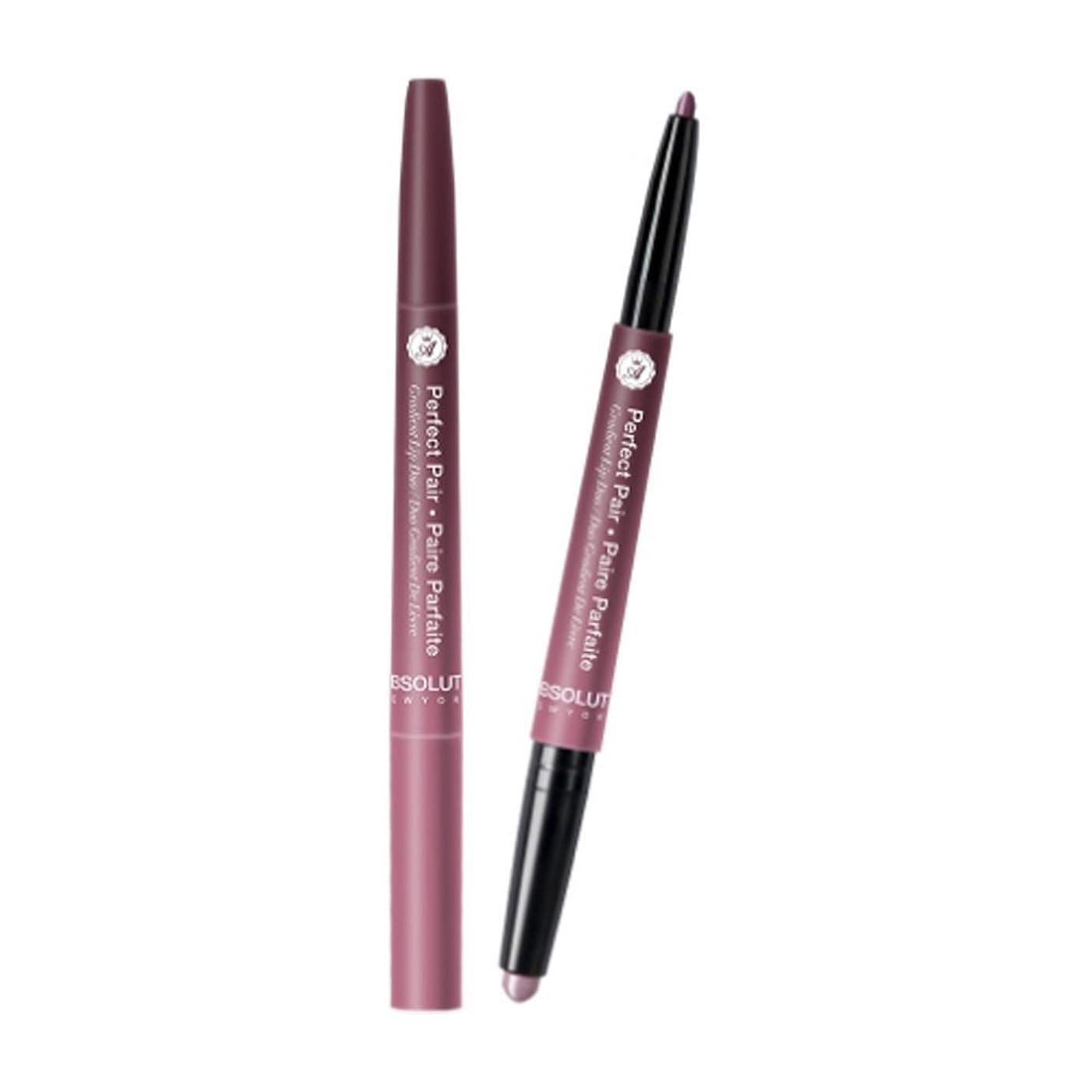 カナダ世代出身地ABSOLUTE Perfect Pair Lip Duo - Rose Wood (並行輸入品)