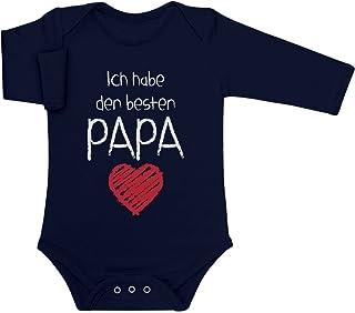 Shirtgeil Ich Habe den besten Papa Geschenk für Vater Baby Langarm Body