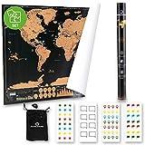SQUALIPRODU ® Weltkarte - Rubbel Weltkarte XXL [60x80cm]