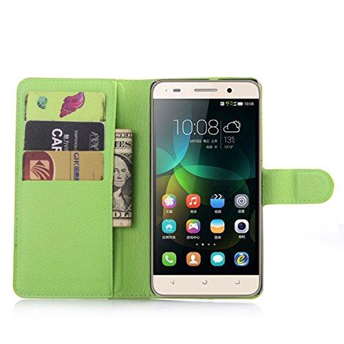 Tasche für Huawei G Play Mini (Honor 4C) Hülle, Ycloud PU Ledertasche Flip Cover Wallet Hülle Handyhülle mit Stand Function Credit Card Slots Bookstyle Purse Design grün