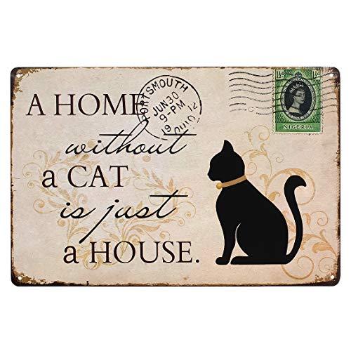 [ファン] Fun! ブリキ看板 CAT ポスター インテリア 猫 ネコ グッズ インテリア雑貨