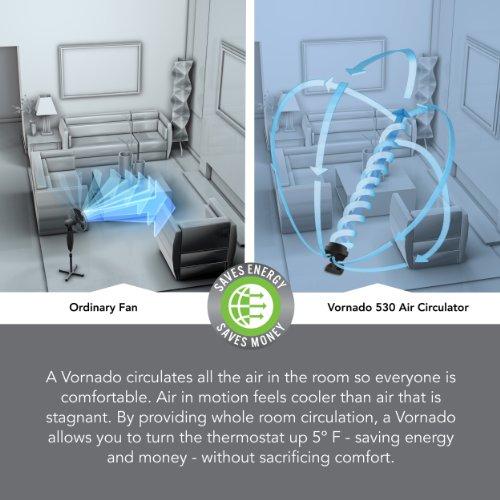 Vornado 530 Compact Whole Room Air Circulator Fan, Black