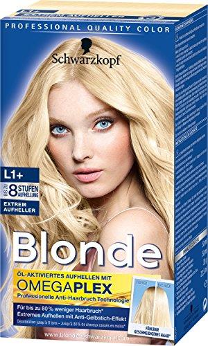 Schwarzkopf Blonde Aufheller L1+ Extrem Haarentfärber, Stufe 3, 3er Pack (3 x 143 ml)
