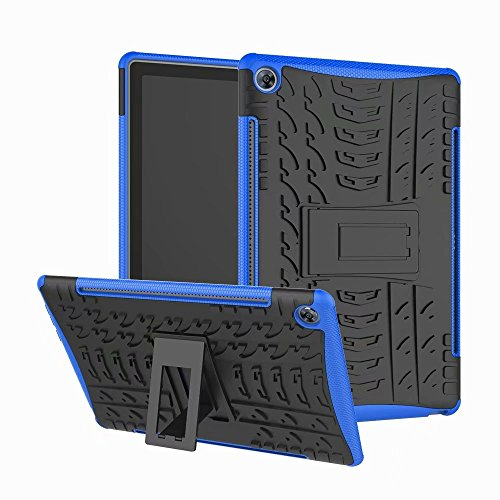 Haiqing Hyun Pattern - Carcasa híbrida de doble capa con función atril 2 en 1, a prueba de golpes, compatible con Huawei Mediapad M5 Pro / M5 de 10.8 pulgadas 2018 (color: azul)
