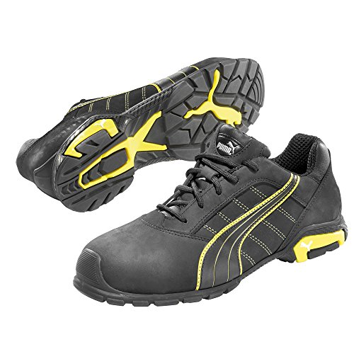 Puma Safety - Zapatos unisex, color negro/amarillo/blanco, talla 43