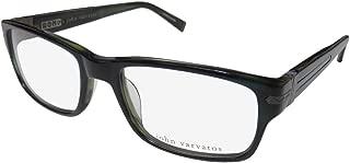 New John Varvatos Men's Prescription Eyeglasses - V349 UF Navy Blue - 56/19/145