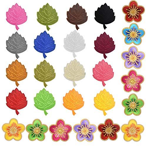 Appliqués à Coudre 28pcs Fleur Patches Thermocollants pour Vêtements Vestes Chapeaux Sacs à dos Jeans Décoratifs Broderie Patchs Fleur