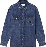 Calvin Klein Jeans Oversized Shirt Camisa, Luz Vaquera, XL para Hombre