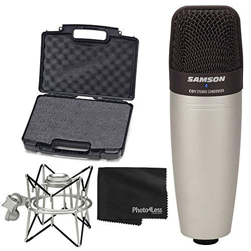 Samson C01 Studio Condenser Mic + Samson Spider Shock Mount + Cleaning Cloth - Deluxe Microphone Bundle