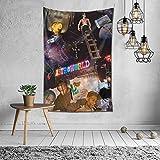 Tr-a-vis Sc-o-tt Astro World Tapestry 3D Print Wall Hanging Blankets for Dormitory Bedroom Living Room Art Decor 60x40 inch