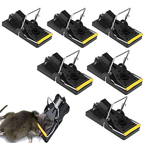 SunAurora 6 Stuks Muizenval, Professionele Rattenval, Zeer Gevoelige Muizenval die Binnen en Buiten kan Worden Gebruikt