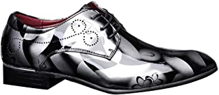 Inlefen Men Front tie Leather Shoes Low Heel Breathable Business Leather Shoes
