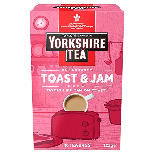 Yorkshire Tea Toast & Jam Brew Flavoured Tea Bags, Pack of 4 (Total of 160 Tea Bags)