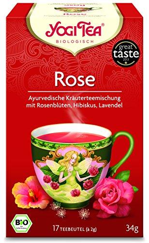 Yogi Tea® Rose Tao Tee I 3er Pack Yogi Tee mit echter Bio-Qualität I leckere ayurvedische Gewürz-Tee-Mischung mit Rosenblüten Hibiskus und Lavendelblüten uvm. I Tee-Set mit 3x 17 Tee-Beutel